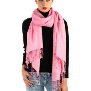 Pashmina & Silk Scarf Pink NEW!